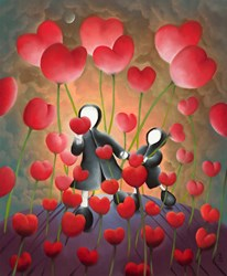 Hand in Hand by Mackenzie Thorpe - Limited Edition on Paper sized 17x20 inches. Available from Whitewall Galleries