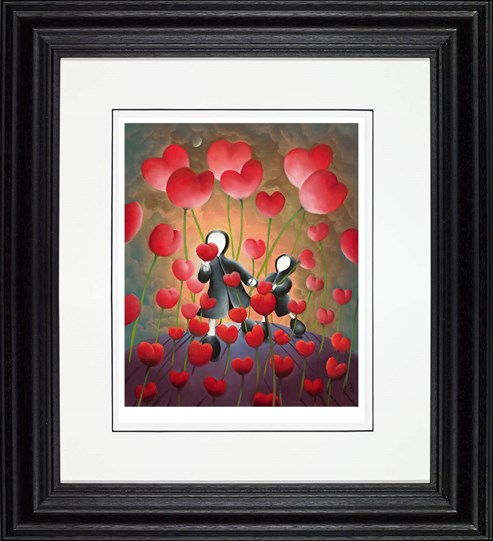 Hand in Hand by Mackenzie Thorpe - Framed Limited Edition on Paper