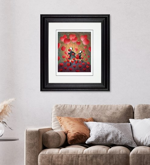 Hand in Hand by Mackenzie Thorpe - Limited Edition on Paper wall setting